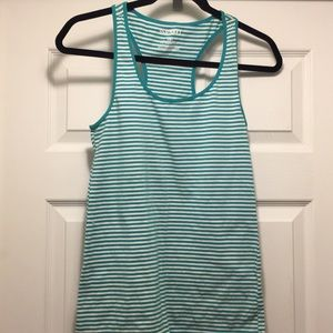 Old Navy teal striped top